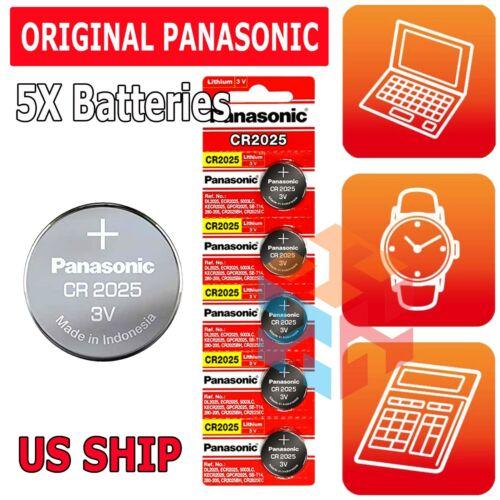 5x Fresh PANASONIC CR 2025 CR2025 ECR2025 LITHIUM COIN CELL Battery Exp 2030