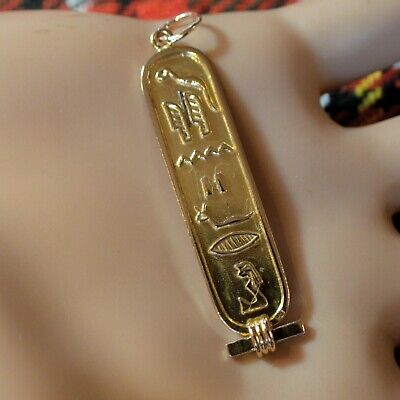 9 ct GOLD second hand Egyptian hieroglyphs  pendant