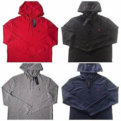 "Polo Ralph Lauren Mens Pullover Hoodie Pony Logo Jersey Hooded Shirt Sz ""SMLXL"""
