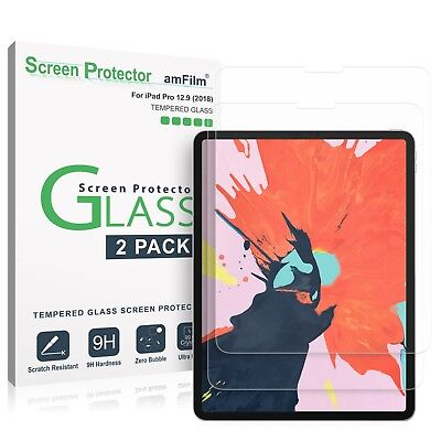 "iPad Pro 12.9"" (2018) amFilm Premium Tempered Glass Screen Protector (2 Pack)"