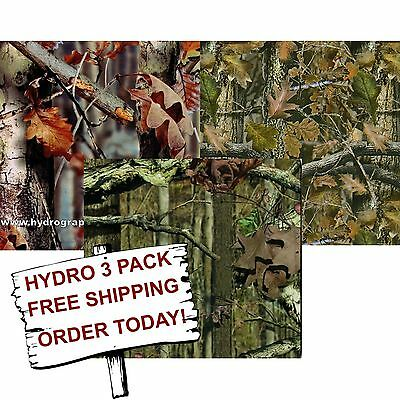 Hydrographic Film Water Transfer Printing Film Hydro Dip Fall Camo Hydro 3 Pack