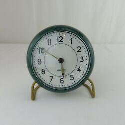 Rosendahl Arne Jacobsen table desk clock alarm burgundy Station Danish design