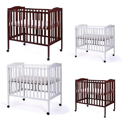 Pine Wood Baby Toddler Bed Convertible Nursery Infant Newborn Foldable (Convertible Crib Toddler Bed)