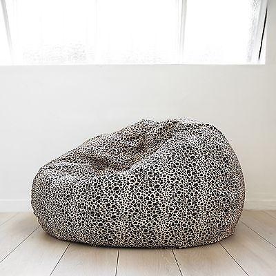 FUR BEANBAG LARGE Leopard Print Cloud Chair Soft Velvet Safari Bean Bag TV Seat for sale  Shipping to Canada