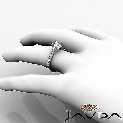 Asscher Diamond Double Prong Set Engagement Ring GIA G VS2 18k White Gold 0.8Ct 5