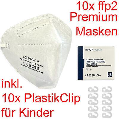 FFP2 Maske 10x Premium Atemschutzmaske Mundschutz nicht Medizinisch Kinder