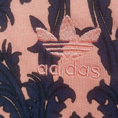 Adidas Originals Women's Baroque all over print Pink Hoodie size 10 AX6009