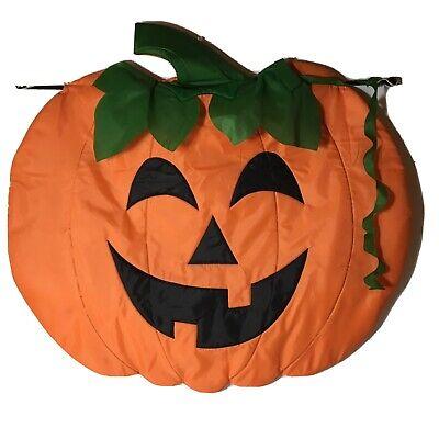 Halloween Pumpkin Jack O Lantern Large Garden Flag Wall Decor Holiday Nylon