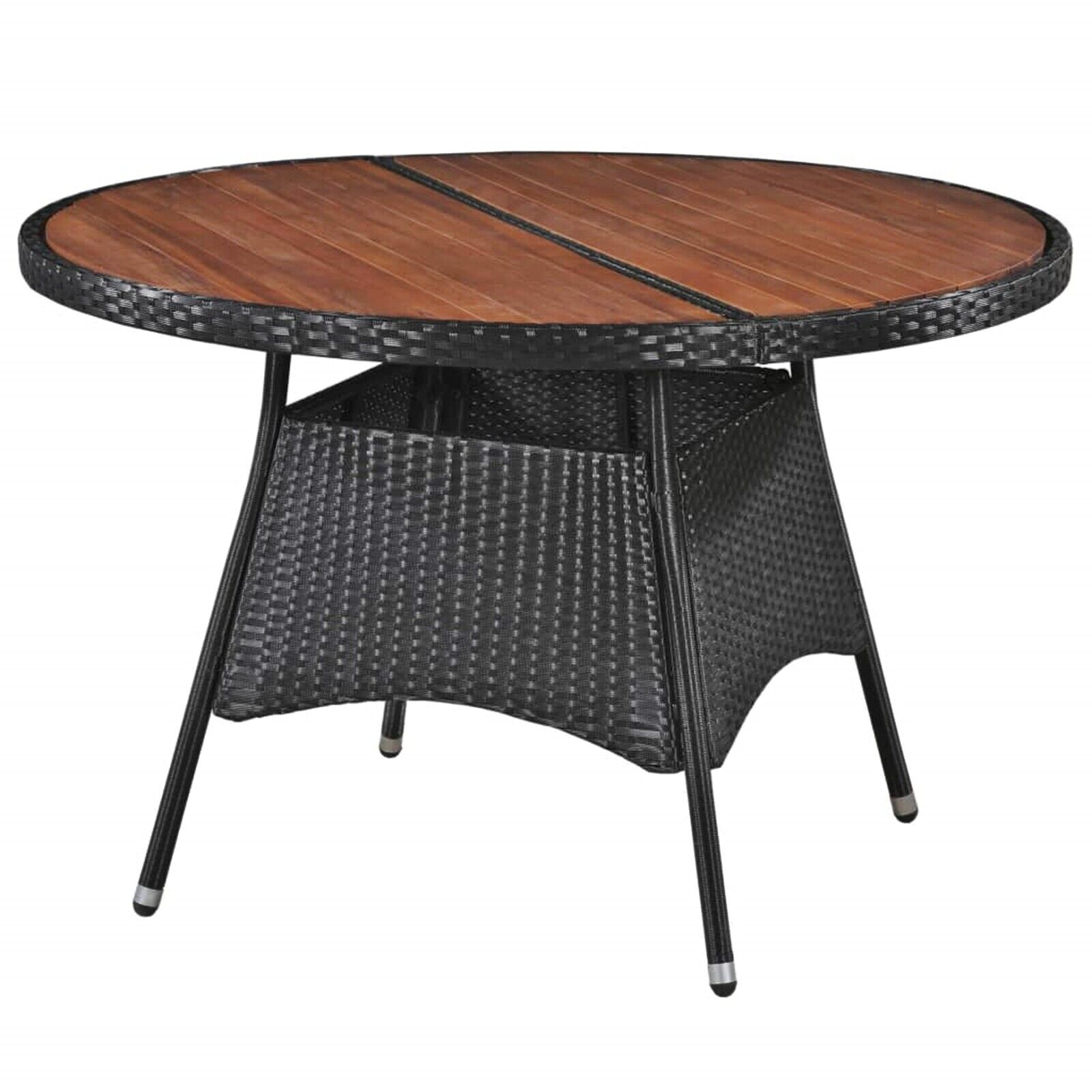 Picture of: Garden Dining Table Large Outdoor Lunch Coffee Patio Furniture Round Wooden Top Ebay
