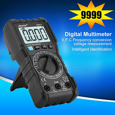 9999counts Digital Multimeter Trms Dc Ac Test Meter Auto Range Ncv Vfc Detector