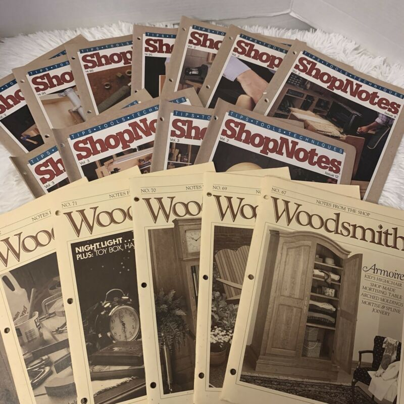 Woodsmith Shopnotes Woodworking Wood Magazine 17 Issues In Plastic Binder