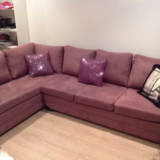 Funky and comfy modern purple L shaped Lounge- great condition Thornleigh Hornsby Area Preview