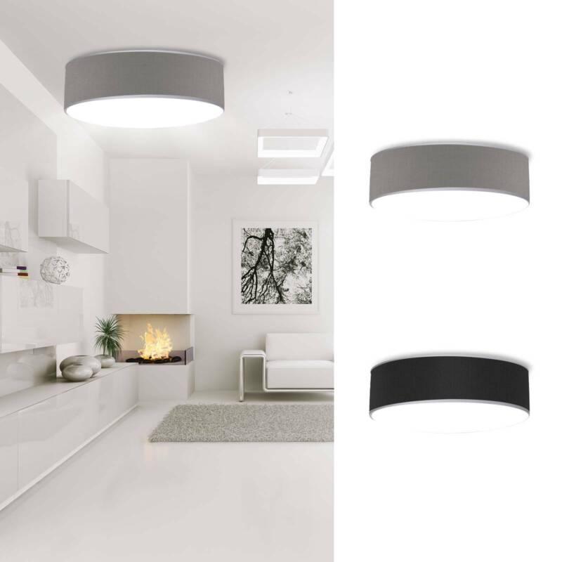 Runde Deckenleuchte mit Stoff Lampenschirm 40cm - Textil Deckenlampe Stoffschirm