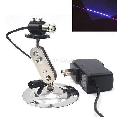 405nm 20mw Violetblue Focusable Line Laser Diode Module 5v Adapter 12mm Holder