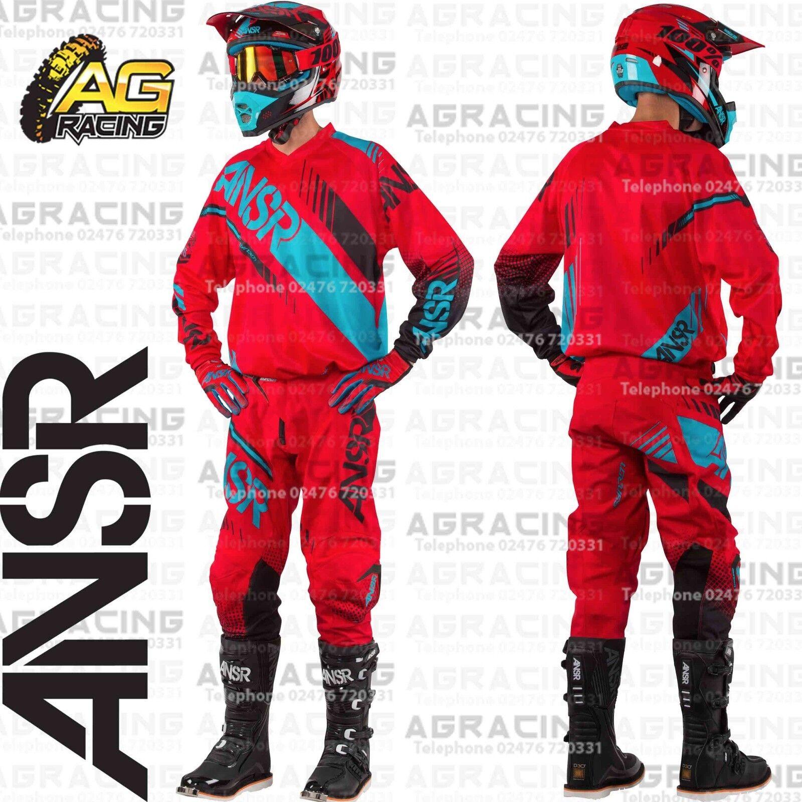 ansr mx boots red