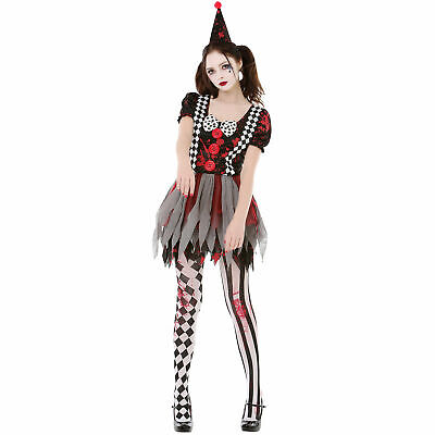 Crazy Clown Halloween Costume  - Creepy Circus Girl Dress for