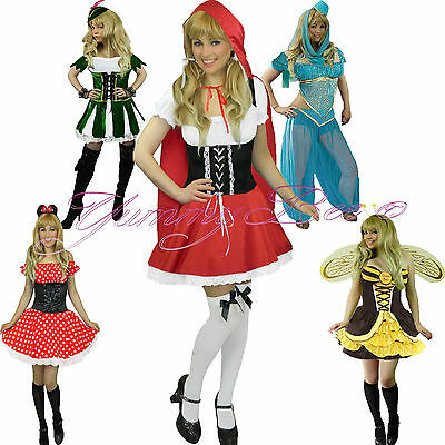 Yummy Bee Fancy Dress Costume Mouse Bee Red Riding Robin Hood Plus Size Womens (Plus Size Robin Hood Costume)