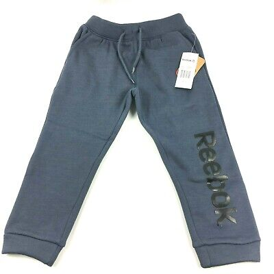 Jog Pant Charcoal (Reebok Kids Boys 4 Charcoal Blue Fleece Latitude Jog Pant )