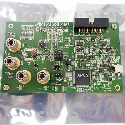 Maxim Development Board Xmos Audio Dac. Max98355a Class D Stereo Amplifier.
