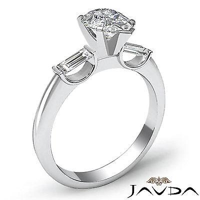 Brilliant Pear Cut Diamond 3 Stone Engagement Ring GIA I SI1 Platinum 950 1.3 ct 1