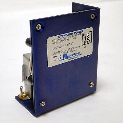 ACME ELECTRIC STANDARD POWER SPS 30DA 12-15V 0.7A POWER SUPPLY, TESTED