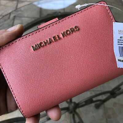 Michael Kors Women Leather Bifold Wallet Credit Card Coin id Holder Purse Clutch