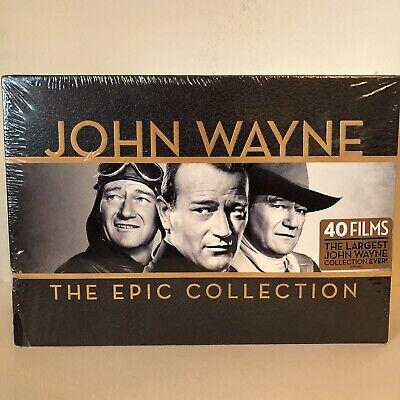 John Wayne 38 + 1 Bonus DVDs The Epic Collection 40 Films & Limited Belt Buckle