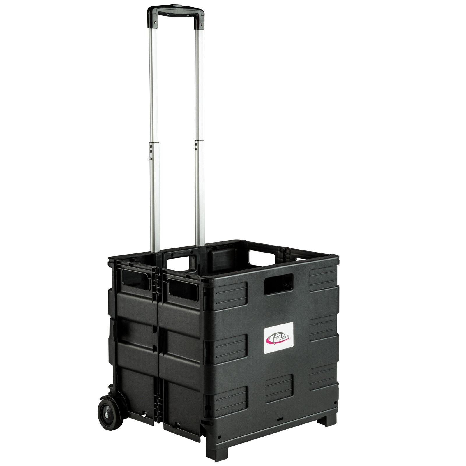 chariot de courses pliable 35kg caddie trolley caddy de shopping avec 2 roues eur 25 90. Black Bedroom Furniture Sets. Home Design Ideas