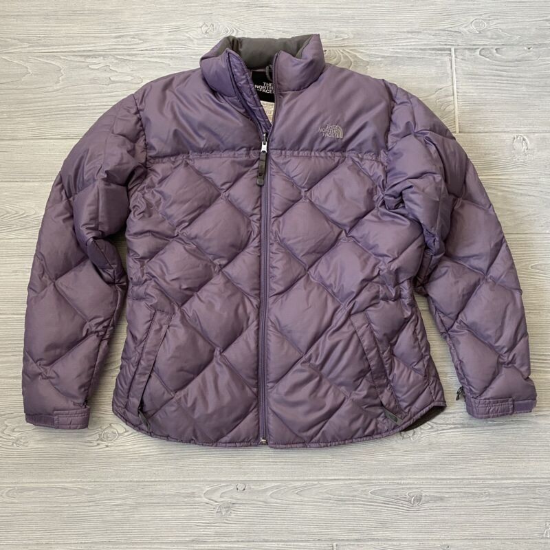 The North Face puffer down fill jacket Girls Size XL