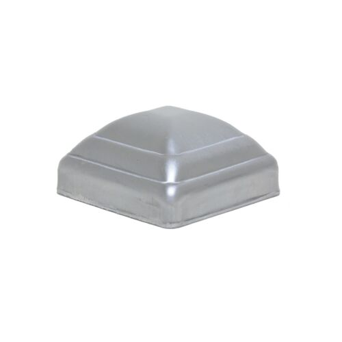 """1-1/2"""" Post Cap Pressed Dome Steel Metal Square for Gate Fences   10 Pack"""