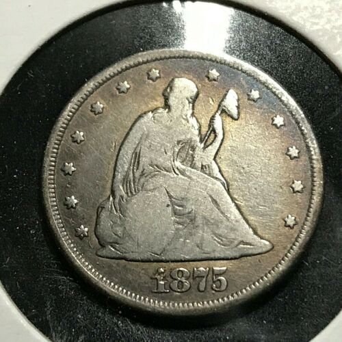 1875-CC SILVER TWENTY CENT PIECE SCARCE COIN