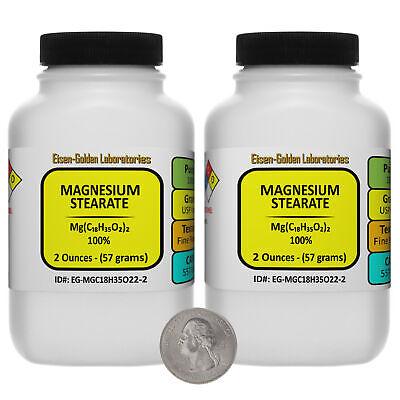 Magnesium Stearate Mgc18h35o22 100 Usp Food Grade Powder 4 Oz In 2 Bottles
