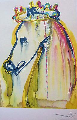 "SALVADOR DALI The Dalinean Horses "" CALIGULA "" limited edition SIGNED"