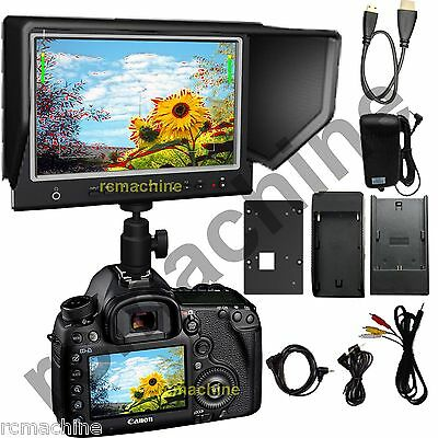 """Lilliput 7"""" 664/O/P IPS Peaking HDMI In Out Monitor shutter"""