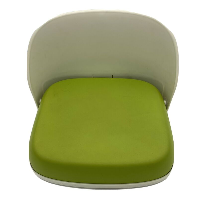 oxo tot perch booster seat for big kids foldable green easy clean no straps 3+