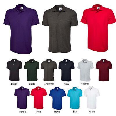 Mens Active Polo T Shirt 200gsm Cotton & Polyester Shirts PLAIN & NO LOGOS - 105 ()