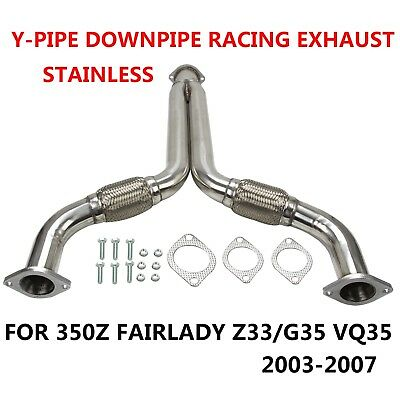 FOR 350Z FAIRLADY Z33/G35 VQ35 Y-PIPE DOWNPIPE STAINLESS RACING EXHAUST