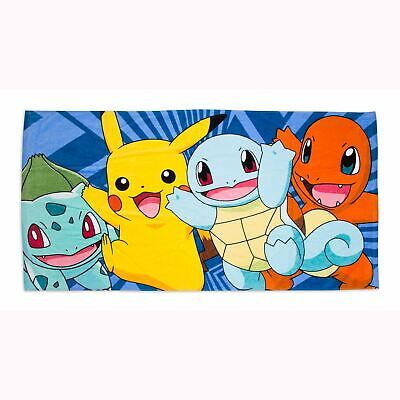 Pokemon Atrapa Toalla 100% Algodón Pikachu Playa de Baño Infantil Oficial
