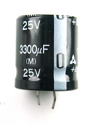 2pcs Panasonic Tsu 3300uf 25v Radial Electrolytic Capacitor