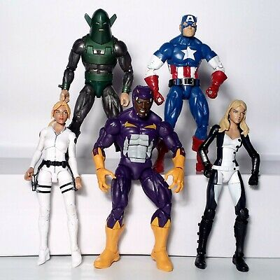 "Marvel Legends 6"" Lot of 5 Captain America Red Skull Onslaught BAF Series Hasbro"