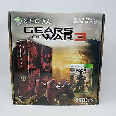 Microsoft Xbox 360 Gears of War 3 Limited Edition 320GB Console Brand New Sealed