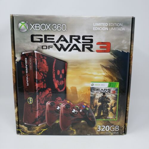 Microsoft+Xbox+360+Gears+of+War+3+Limited+Edition+320GB+Console+Brand+New+Sealed