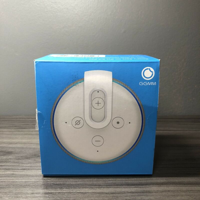 GGMM D3 Portable Battery Base for Echo Dot 3rd Gen - white