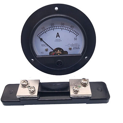 Us Stock Dc 050a Analog Amp Current Pointer Needle Panel Meter Ammeter Shunt