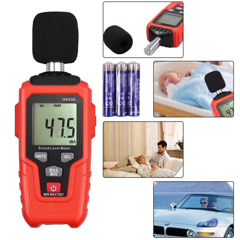 Digital LCD Sound Pressure Level Noise Tester Temprature Measurement 35~135dB
