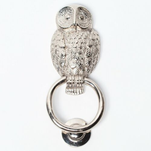 Classical Solid Brass Chrome Finish Owl Door Knocker Country Style