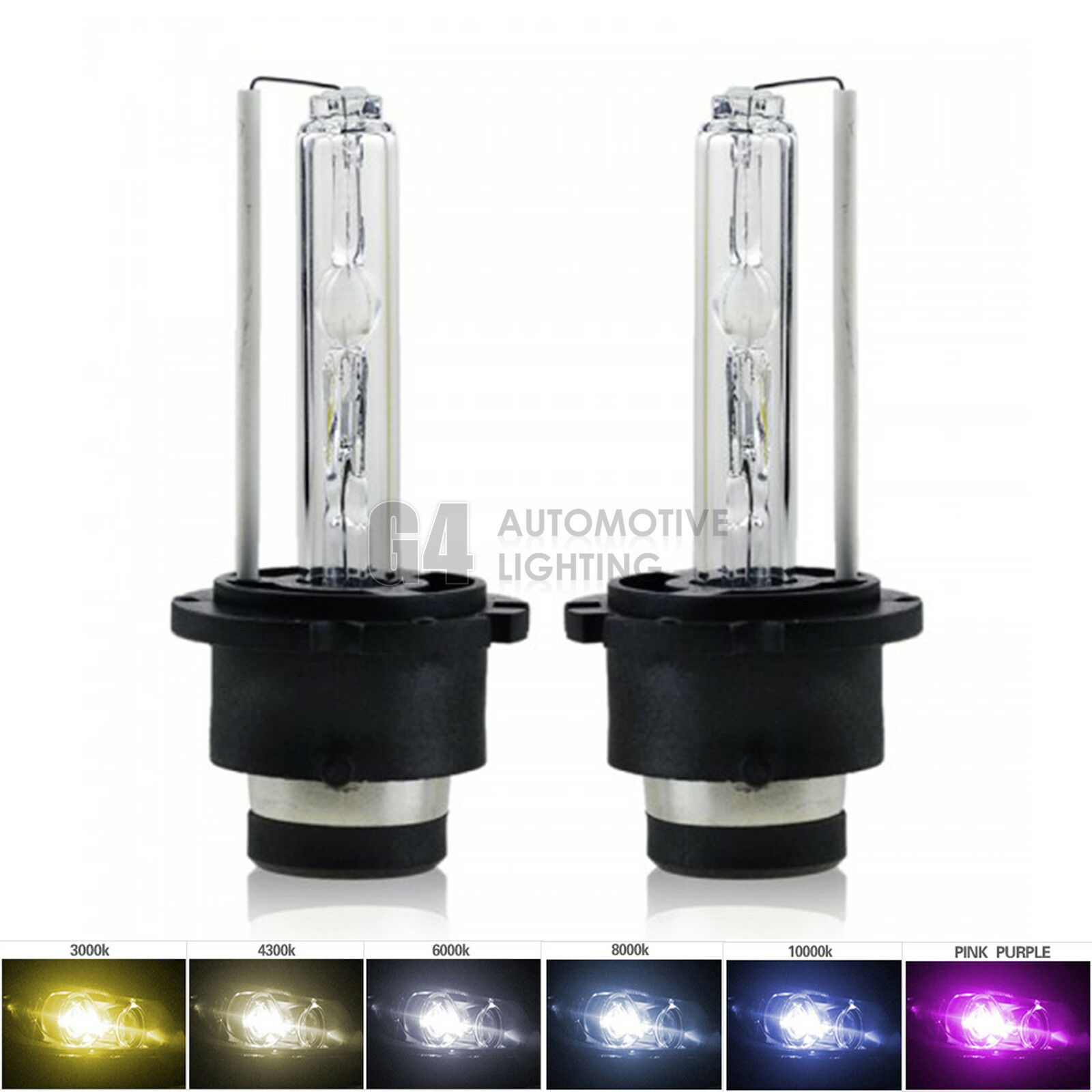 D2S Xenon HID Headlight Replacement Bulbs Pair 35W 10000K 10K OEM Factory Fit