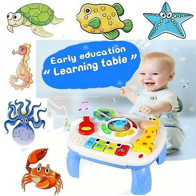 Baby Toddler Toy Musical Learning Table Music Activity: Crib Stroller Car - Toddler Activity Table