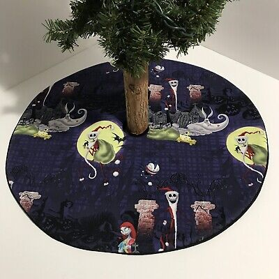 "Nightmare Before Christmas Tree Skirt - 20.5""-Jack Santa Sally Moon Custom Made ()"