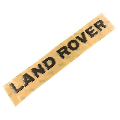 Defender 90 Land Rover Front Name Decal Tape Gray Raised Lettering Genuine